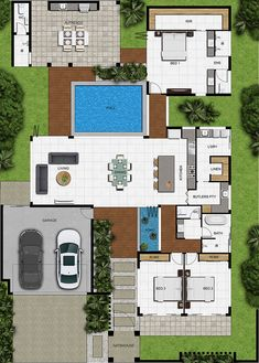 Modern home design – Home Decor Interior Designs Sims House Plans, House Layout Plans, Family House Plans, New House Plans, Modern House Plans, House Layouts, Modern House Design, House Floor Plans, Dream House Plans