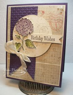 It's a Stamp Thing  best of flowers elegant eggplant confetti old olive