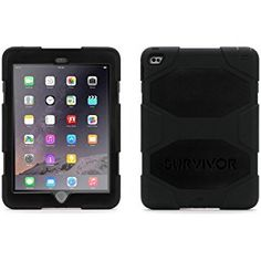 Griffin Smoke/Black Survivor All-Terrain Case + Stand for iPad mini, mini and mini 3 - Military-duty case with stand- Touch ID Ipad 4, Ipad Mini 2, New Ipad, Mini Mini, Ipad Air 2 Cases, Ipad Case, Hp Computers, Ipad Stand, Apple Ipad