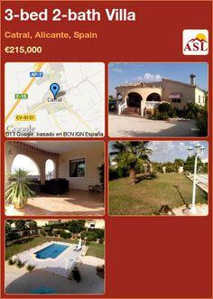 3-bed 2-bath Villa in Catral, Alicante, Spain ►€215,000 #PropertyForSaleInSpain