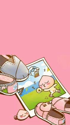 Cute Pastel Wallpaper, Friends Wallpaper, Images Wallpaper, Kawaii Wallpaper, Photo Wallpaper, Cartoon Wallpaper, Cute Wallpapers, Wallpaper Backgrounds, Apeach Kakao