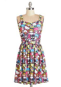 Trip to Kawaii Dress. For an adorable airport ensemble, slip into this sleeveless printed dress!  #modcloth