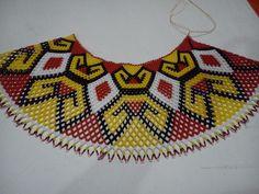 Tangu Diy Necklace Patterns, Beaded Cape, Native Beadwork, Beaded Choker, Handmade Beads, Beading Tutorials, Collar Necklace, Chokers, Crafts