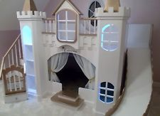 NEW CUSTOM PRINCESS CATARINA/MACKENZIE CASTLE LOFT/BUNK BED/INDOOR PLAYHOUSE