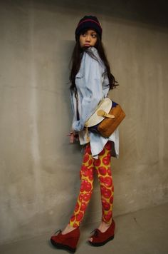 Liking the wild pants and shoes!