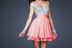 jeweled coral dress