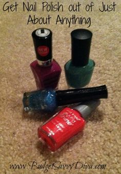 How to Remove Nail Polish from Just About Anything | Budget Savvy Diva