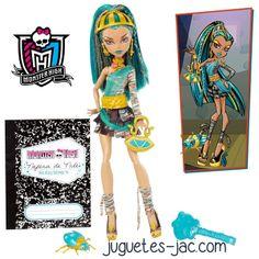 Monster High Nefera del Nilo hija de la Momia y hermana de Cleo del Nilo de Mattel.