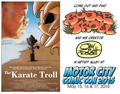 My upcoming appearance at Motor City Comic Con 2015!