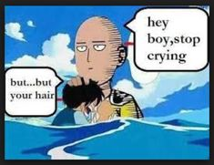 One Punch Man and One piece crossover funny Monkey D. Luffy and Saitama One Piece Crossover, One Piece Meme, Anime One Piece, One Piece Funny, Anime Crossover, One Punch Man Anime, One Punch Man Funny, Anime Merchandise, Funny Memes