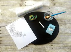 60+ Chalkboard Art and Furniture Image Transfer Projects (that YOU can do!)  -- by SnazzyLittleThings.com