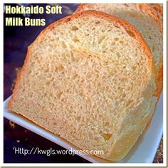 Creams and Milk Make These Buns Worth To Try –Hokkaido Soft Milk Buns and Hokkaido Dome Milk Bun, Japanese Bread, Bread Maker Recipes, Oatmeal Recipes, Oatmeal Cookies, Cookie Dough, Bakery, Cream, How To Make