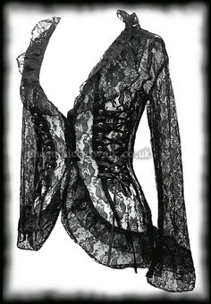 Gothic Black Lace Corset Jacket