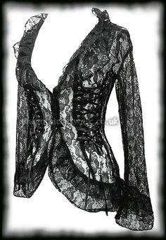 Gothic Black Lace Corset Jacket