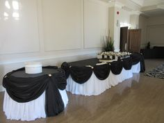 Black and white wedding reception table design done through WEDS by Mega City #wedding #decor #reception