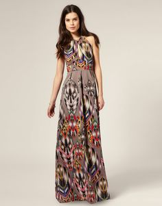 Warehouse Tribal Printed Maxi Dress