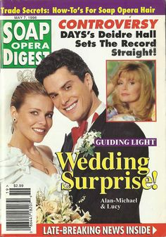 Classic SOD Cover Date: May 7, 1996 Sonia Satra & Rick Hearst (Lucy & Alan-Michael, GUIDING LIGHT)(inset) Deidre Hall (Marlena, DAYS OF OUR LIVES)