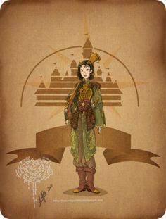 Steampunk-ified version of Mulan-disney's most badass princess