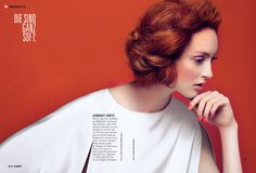 Die Softies Kommen – Redhead Frances stars in a summer beauty story shot by Filippo Del Vita for the latest issue of Glamour Germany.