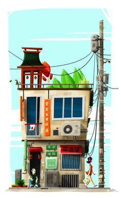 Japanhouse by Renaud Lavency, via Behance