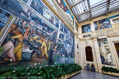 """Diego Rivera's beautiful """"Detroit Industry"""" murals (1932-33) at the Detroit Institute of Arts - © 2011 Joe Braun Photography"""