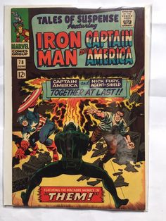 Drawing Marvel Comics Tales of Suspense 78 - Captain America - Fight - Marvel - Marvel Comics - Ironman - Jack Kirby Best Comic Books, Marvel Comic Books, Comic Book Heroes, Comic Books Art, Marvel Marvel, Comic Book Artists, Comic Book Characters, Comic Artist, Marvel Characters