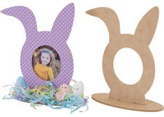 Children can personalise this Australian made MDF wooden bunny frame by adding a photo and decorating with paper, paint and embellishments. Simply slot the bunny head into the base before painting and crafting. Supplied plain for decoration.