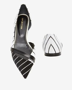 90f9f15d73 Sergio Rossi D'Orsay Ballet Flats in black and white #SergioRossi Chic Chic,