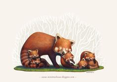 A Good Mom - Red Panda Version by *minitreehouse on deviantART
