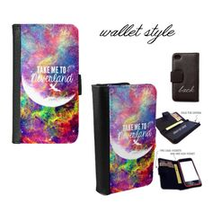 iPhone and Galaxy leather wallet case - Disney Floral Peter Pan Take me to…