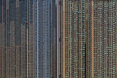 "Michael Wolf, ""Architecture of Density"" - photographs of highrise residential structures in Hong Kong."