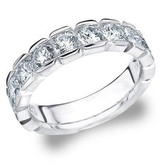 18K White Gold Diamond Box Set Wedding Band (2.0 cttw, G-H Color, SI1-SI2 Clarity) Size 4