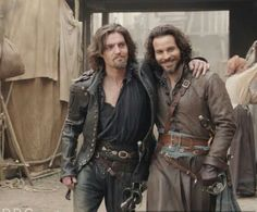 Oh my.... The Musketeers, season 3. Athos and Aramis. Again, thanks to Jessica Pope for posting these on her twitter.