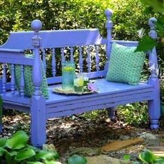 Recycle. Garden Bench seating.