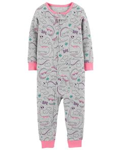 Carter's Little Girls' Dinosaur Snug Fit Cotton Footless PJs, Carters Clothing, Carters Baby Clothes, Baby Girl Pajamas, Carters Baby Girl, Toddler Girl, Baby Girls, Amanda, Cotton Pjs, Girl Dinosaur