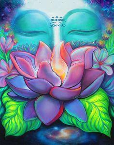 Budha Painting, Lotus Painting, Ganesha Painting, Om Art, Spiritual Paintings, Indian Folk Art, Art Africain, Buddha Art, Elephant Art