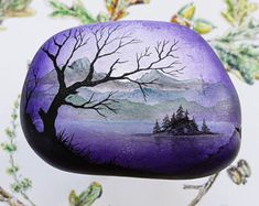 Stone Art Watercolour Acrylic & Oil Paintings by TheRowanStone Pebble Painting, Pebble Art, Stone Painting, Acrylic Painting Techniques, Art Techniques, Pete Rock, Rock Painting Designs, Rock Collection, Stone Crafts