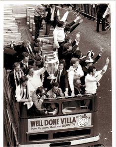 Aston Villa's European Cup winning parade, 1982. Aston Birmingham, Aston Hall, Aston Villa Fc, Super Club, European Cup, My Church, Champions League, Rotterdam, Finals