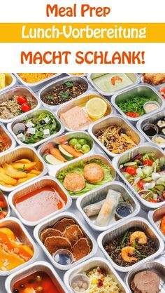Meal Prep: Lunch preparation makes you lean- Meal Prep: Lunch-Vorbereitung macht schlank Have you ever heard of Meal Prep? Everyone is doing this food trend - Lunch To Go, Lunch Meal Prep, Healthy Meal Prep, Lunch Recipes, Healthy Dinner Recipes, Healthy Snacks, Healthy Eating, Fitness Meal Prep, Lean Meals