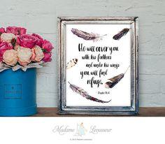 Custom Art Print Design Bible Verse Literary Quote Scripture Printable Quote Personalized