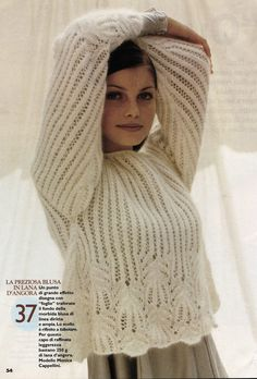 meta name='yandex-verification' / Mohair Sweater, Sweater And Shorts, Lace Knitting, Knitting Designs, Knitwear, Knitting Patterns, Knit Crochet, Sweaters, Clothes