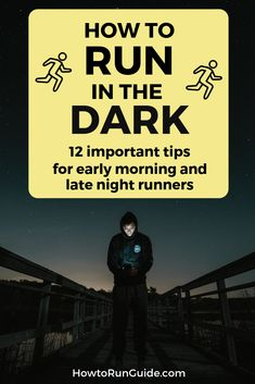 Do you ever run in the morning or at night? Then you need to read these 12 important tips on how to run in the dark safely (and comfortably). Find out what to do, and what NOT to do! Half Marathon Tips, Half Marathon Training Plan, Marathon Running, Half Marathons, Running Workouts, Running Tips, Running Humor, Trail Running, Learn To Run