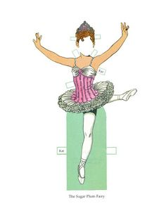 Little Dancers Paper Dolls by Tom Tierney - Dover Publications Inc., Plate 28 (of This doll/outfits were previously published as Nutcracker Ballet Paper Doll - 1997 Nutcracker Sweet, Nutcracker Christmas, Sugar Plum Fairy, Paper Dolls Book, Dress Up Dolls, Winter Christmas, Christmas Windows, Merry Christmas, Xmas