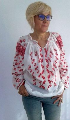 Ii lucrate manual: Info: 0728925240 Romania, Floral Tops, Costumes, Women, Decor, Fashion, Embroidery, Decoration, Decorating