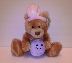 NWT Russ Bunny Bear plush sings stuffed animal toy Everybody Loves Somebody   #Russ