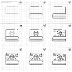 Today on @randomthingsdraw, how to draw a Polaroid camera  On this account you can find easy instructions to draw random things (made by me) twice a week. Happy drawing!