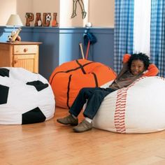 Soccer Ball Chair, Baseball Chair, Basketball Chair for Kids Rooms