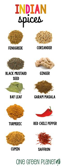 10 Indian Spices to Spike Up Your Meal http://onegr.pl/1jxLRXE #vegan #recipe