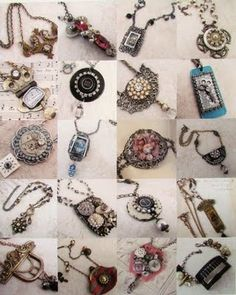 My Salvage Treasures blog.  Upcycled jewelry.  So awesome!Check out flea markets, thrift stores, garage sales, or even your own drawers for your own trove of up-cycleablE treasures!