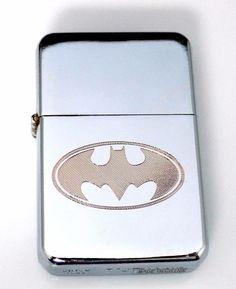 BATMAN Bat Engraved Chrome Cigarette Wedding Favor Lighter / Case Gift LEN-0021